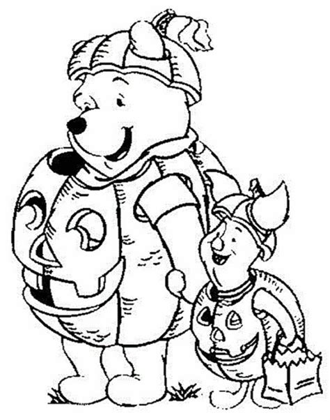 5 best winnie the pooh halloween coloring pictures