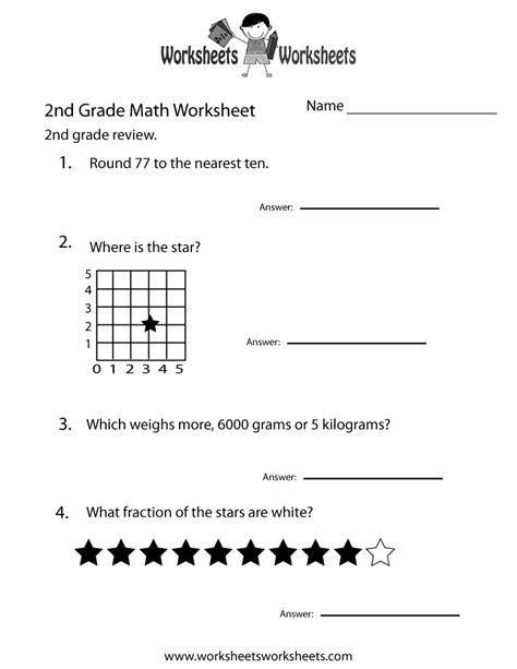 2nd Grade Test Prep Worksheets second grade math practice worksheet free printable