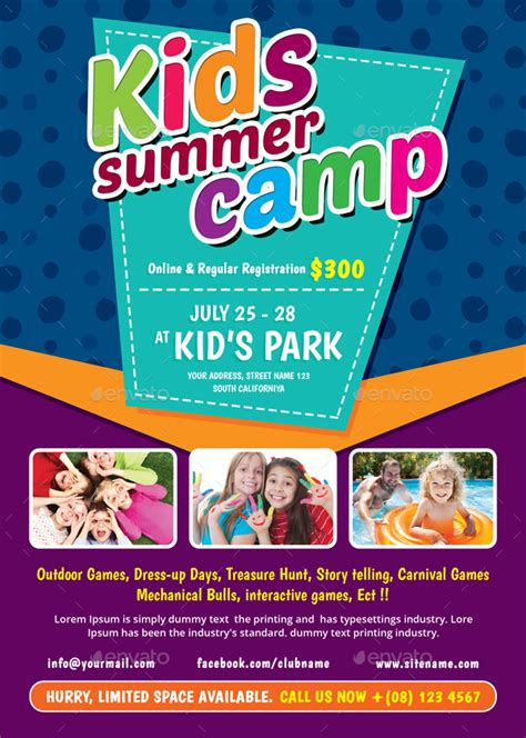 kids summer c flyer by themedevisers graphicriver