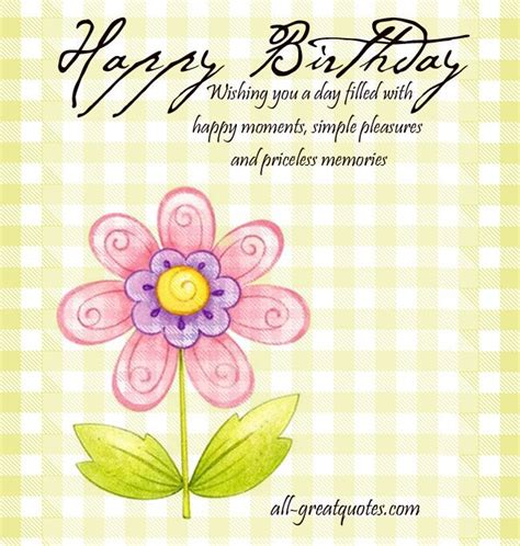 Simple Happy Birthday Wishes For A Friend Happy Birthday Wishing You A Day Filled With Happy
