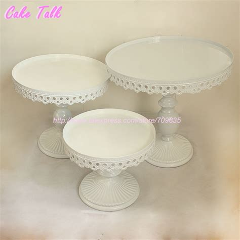 Wedding Cake Plates by Set Of 3 White Wedding Cake Stand Decorator Cupcake