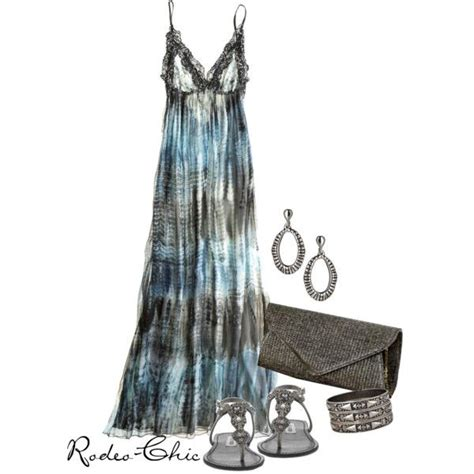 Rodeo Maxi quot blue skies quot by rodeo chic on polyvore tie dye maxi dress