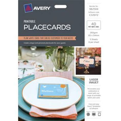 Where To Buy Officeworks Gift Card - officeworks avery place cards 85 x 54mm 40 pack compare club