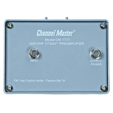 channel master titan  high gain preamplifier mast mounted
