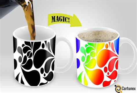 fancy coffee cups and mugs mug cup heat transfer press cortunex magic mugs amazing new heat sensitive color