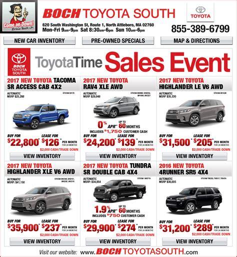 toyota special deals boch toyota lease deals lamoureph blog