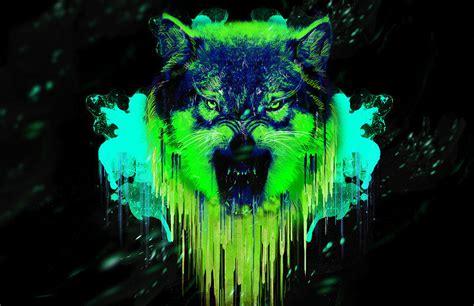 Gamis Wolvis Greeny image gallery neon wolf