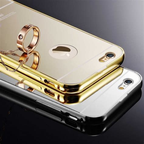 Iphone 5 5s 5g Se Luxury Soft Mirror Cover Ring ultra thin plating aluminum for iphone 5 5s 5g se brushed mirror 2 style back cover coque
