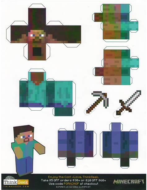 Minecraft Papercraft - paper crafts minecraft paper crafts