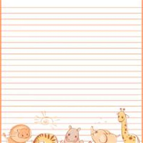 printable animal letterhead baby animals stationery