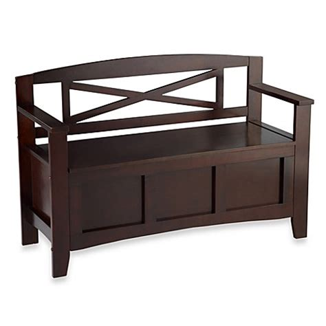 bed bath and beyond bench linon home crosby storage bench bed bath beyond