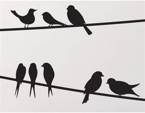 Funky Bedrooms birds on a wire wall decals buy these for your home online
