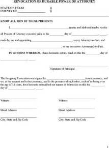tex document template power of attorney revocation form for free