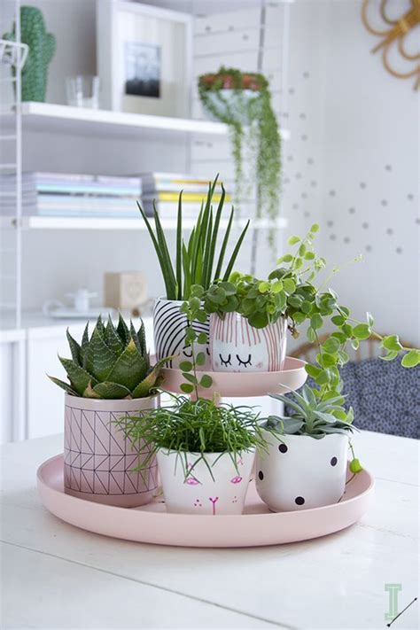 decorating home with plants 25 best ideas about painted plant pots on