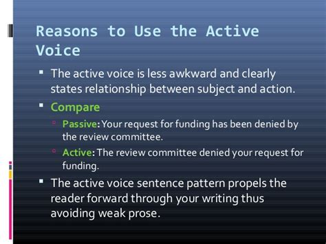 what is the pattern of passive voice active and passive voice ppt