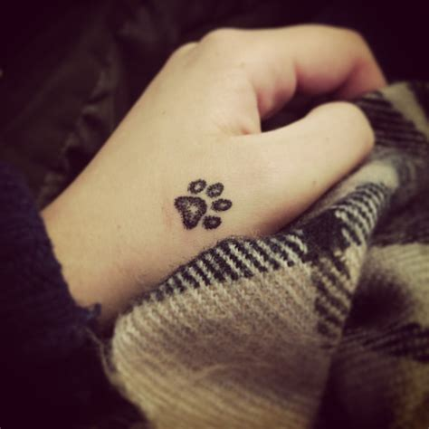 paw print wrist tattoo paw print tattoos ideas