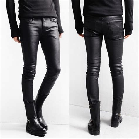 Cheap Monday Slim Black Size S M L Xl korean style black coated denim washed pencil slim fit boots