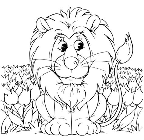 lion coloring pages lion and lamb coloring pages kids