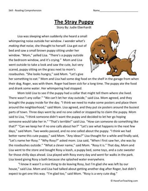 4th Grade Reading Comprehension Worksheets Free by Free Reading Comprehension Worksheets Teaching