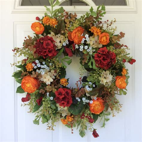 Front Door Wreaths Etsy Fall Wreath For Front Door Fall Wreaths On Etsy Farmhouse