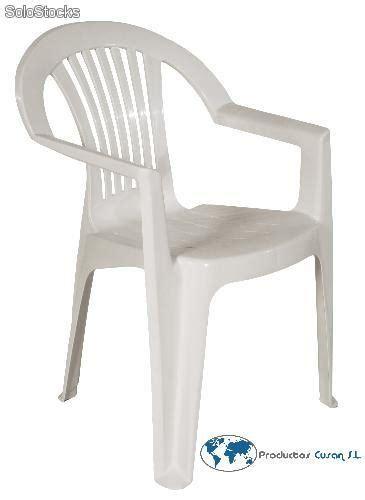 silla de plastico  brazos barata