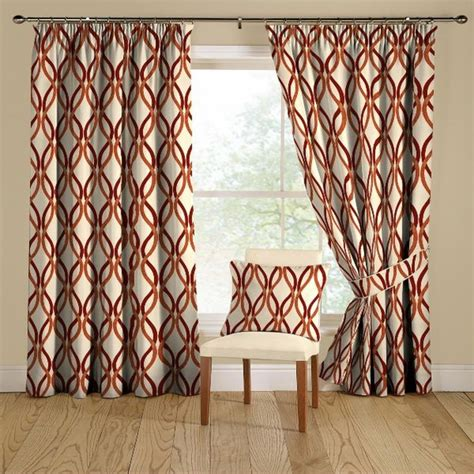 Geometric Orange Curtains Curtain Ideas Brown And Orange Light Curtains Living Room Living Room Curtains And Window