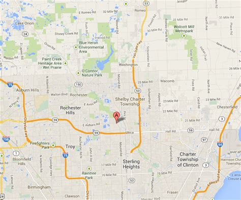 shelby township mi map contact info for auto medics of shelby and rochester