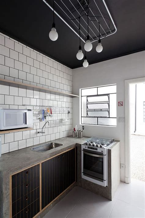 dirty kitchen design a m black ceiling and lights on pinterest
