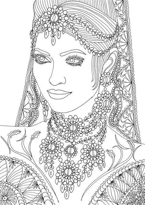 indian face coloring page adult coloring book printable coloring pages coloring