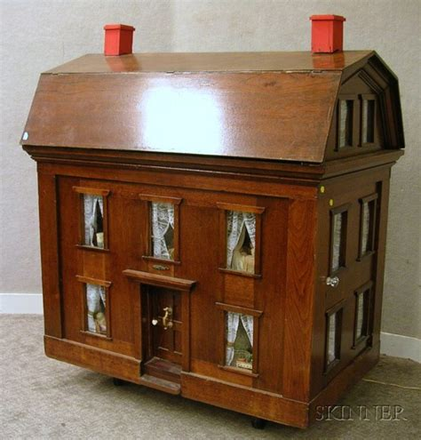 huge doll houses for sale large mahogany dollhouse sale number 2383 lot number 678 skinner auctioneers