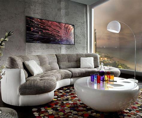 delife sofa delife clovis schwarz mit hocker wohnlandschaft