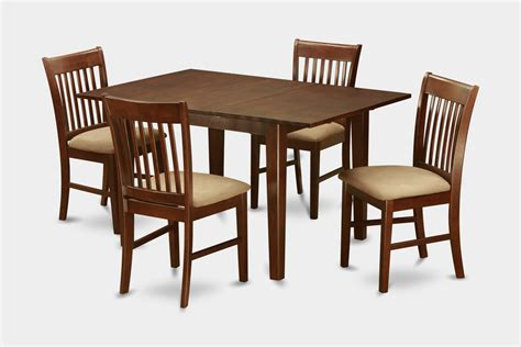 Dining Table And Chairs For Small Spaces 5 Pc Dinette Set For Small Spaces Small Table With 4 Dining Table Chairs Ebay