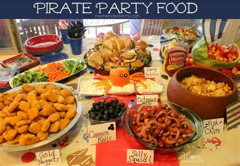 party food jake and the never land pirates birthday party food