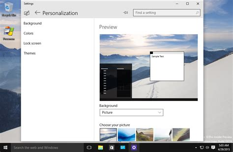 microsoft appearance themes windows 10 build 10074 ditches classic appearance and