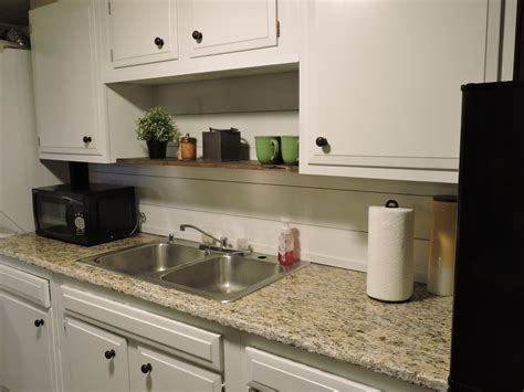 Home Depot Backsplash For Kitchen Kitchenette Shiplap Backsplash Clover Lane Blog
