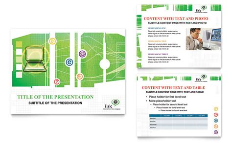 isp internet service powerpoint presentation template design