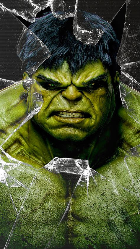 wallpaper iphone hd hulk hulk broken glass wallpaper for iphone x 8 7 6 free