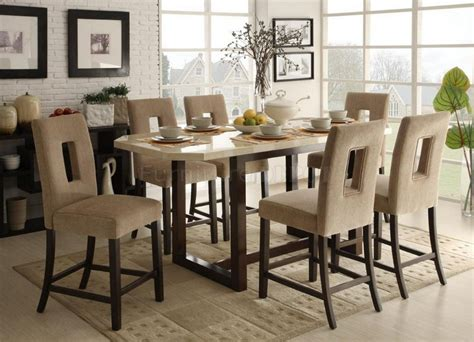 high dining room tables and chairs dining room counter height dinette sets round room