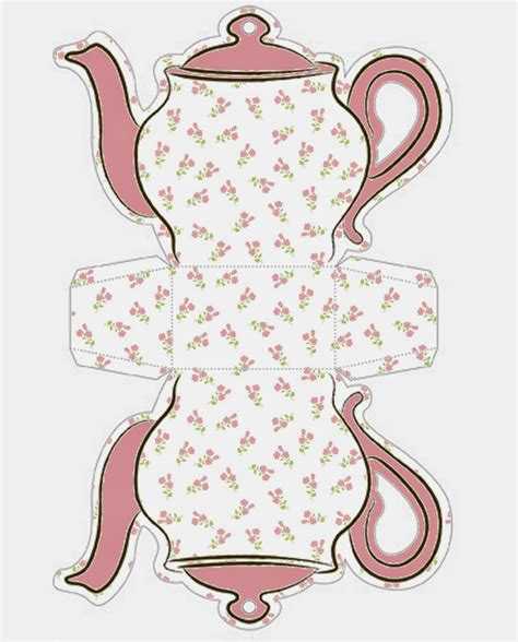 printable paper on pinterest shabby chic teapot free printable boxes шаблоны