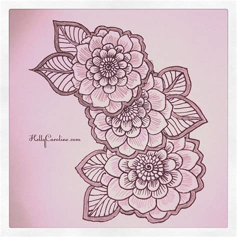 henna tattoo designs of flowers henna style flowers henna hennaartist hennatattoo