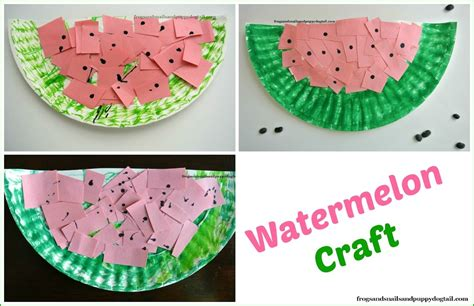 Watermelon Paper Craft - watermelon scissor skills and paper plate craft fspdt