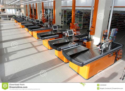 Supermarket Desk by Desk In A New Store Editorial Stock Image Image