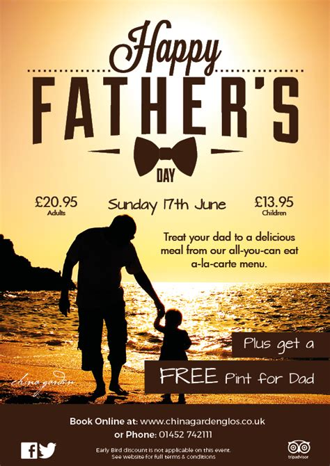 fathers day 2018 uk china garden restaurant takeaway gloucestershire