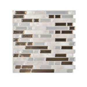 Peel And Stick Backsplash Home Depot Smart Tiles Grigio 10 06 In X 10 00 In Peel And Stick