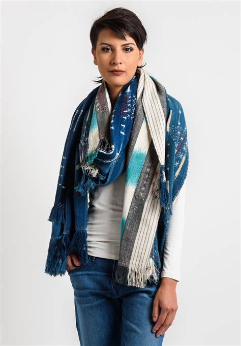 santa fe scarf company vintage boro stitch shawl 1 in