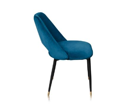 Chaise Velours Bleu by La Chaise Healey Une Chaise En Velours Dans Le Style Des