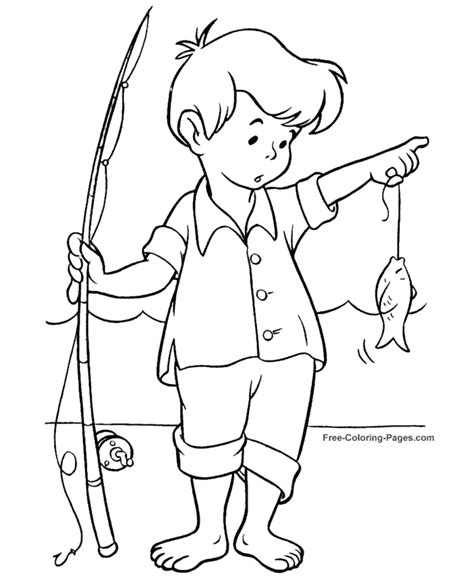 fisherman coloring page free printable coloring pages summer coloring book pages fishing 06