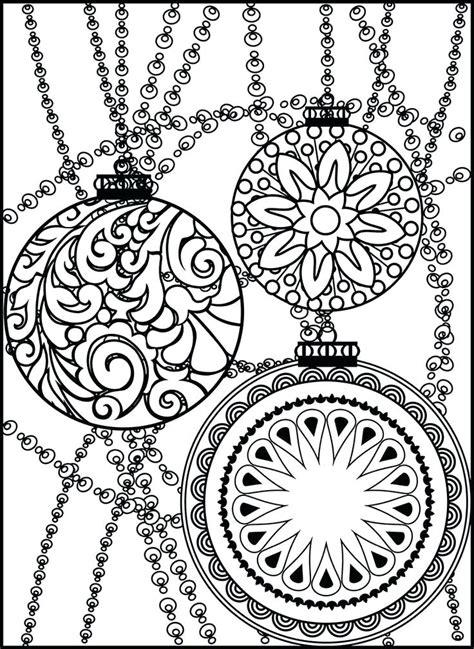 google printable christmas adult ornaments coloring coloring ornaments