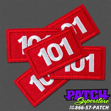 custom patches embroidered patches patchsuperstore boy scouts custom red white troop number patches