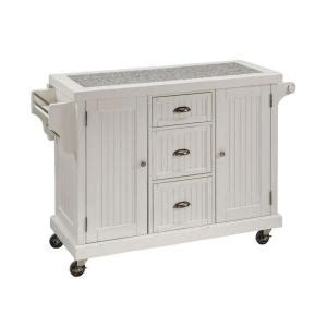 Home Depot Kitchen Carts by Home Styles 53 5 In W Granite Top Kitchen Cart With Drop